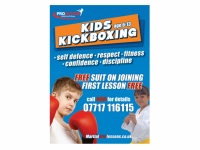 Proaction Kids Kickboxing advert