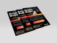 flyer design kettle bell classes fitness