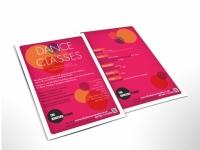 A5 flyer dance studio classes
