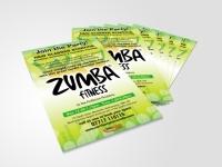 proaction zumba, flyer, leaflet, design