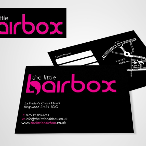 little hairbox business card